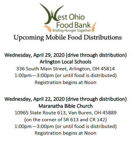 West Ohio Food Bank Distribution April 2020