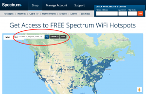 Spectrum WiFi Hotspot Map