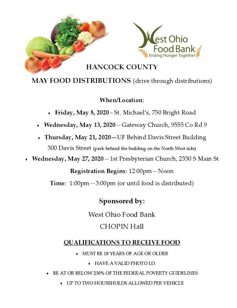 West Ohio Food Bank Dates