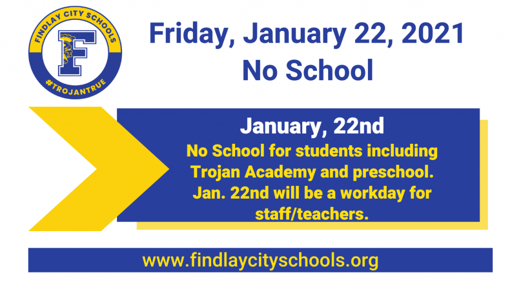 No School for Students 1-22-21